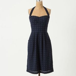 Anthropologie Girls From Savoy Lace Halter Dress